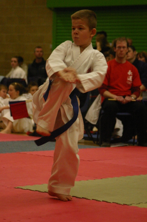 Oliver Powell performing Bassai Dai Kata